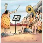 Far-Side-cartoon-of-monotone-caveman-orchestra
