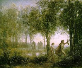 Jean-Baptiste Camille Corot - Orphée ramenant Eurydice des enfers 1861 Houston