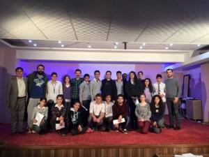 Kızıltepe Cumhıriyet Anadolu Lisesi'nde atölye sonrası katılımcılar